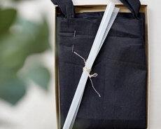 Startkit med tygpåse, vattenlöslig stramalj, garn, nål och presentkort