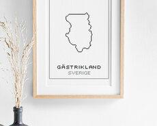 Cross stitch kit aida – Gästrikland