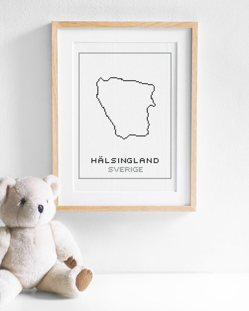 Cross stitch kit aida – Hälsingland