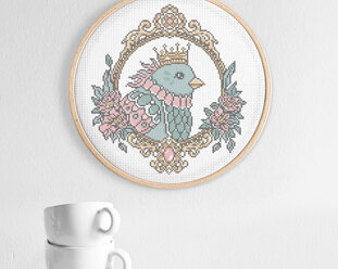 Cross stitch kit aida - Queen of the skies