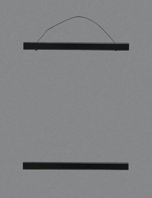 Wooden poster hanging, black.