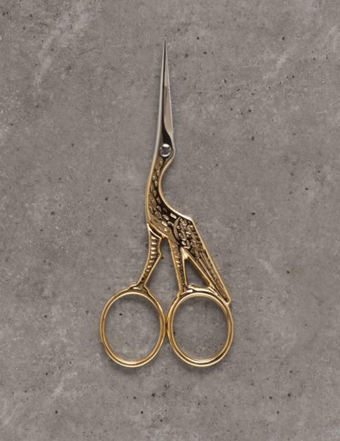 Broderisax - stork - Guld