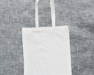 Organic lightweight Tote bag / Canvas bag in offwhite