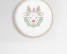 Little reindeer (Digitalt broderimönster)