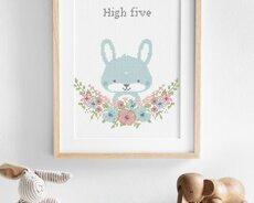 Flower friends Bunny (Digitalt broderimönster)