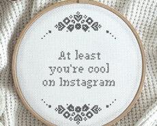 Cool on Instagram (Digitalt broderimönster)