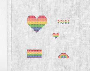 "Patch kit ""Pride mini"" for upcycling (5 in 1)"