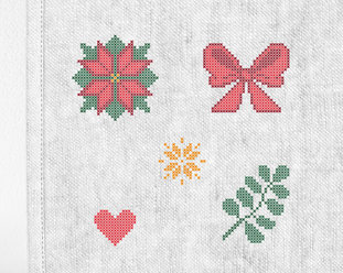 "Patch kit ""Christmas mini 1"" for upcycling (5 in 1)"