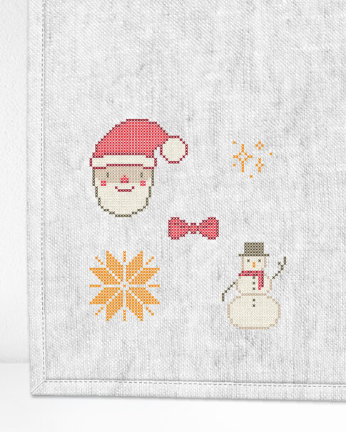 """Patch kit """"Christmas mini 2"""" for upcycling (5 in 1)"""