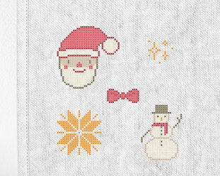 "Patch kit ""Christmas mini 2"" for upcycling (5 in 1)"