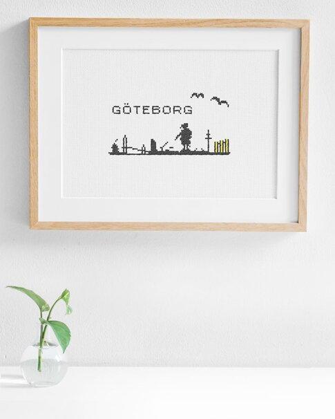 Göteborg skyline (Digitalt broderimönster)