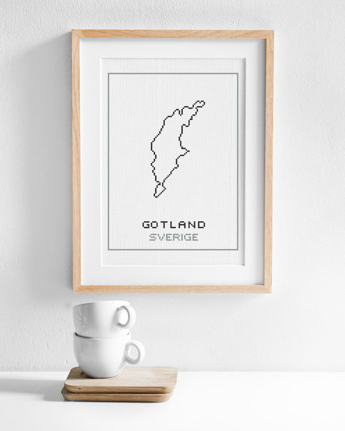 Cross stitch kit aida – Gotland