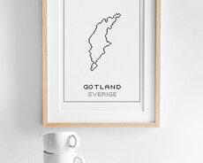 Broderikit aida – Gotland