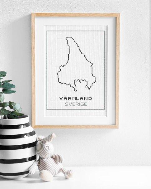 Värmland (Digitalt broderimönster)
