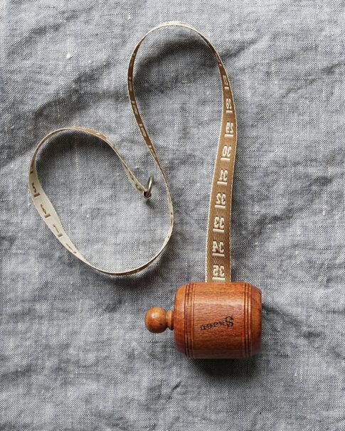 Ecru wooden dressmaker's tape from Sajou