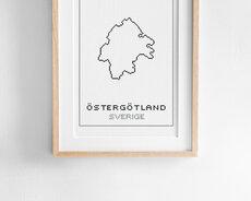 Cross stitch kit aida – Östergötland