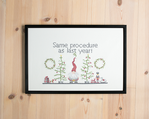 Tired Santa (Digital embroidery pattern)