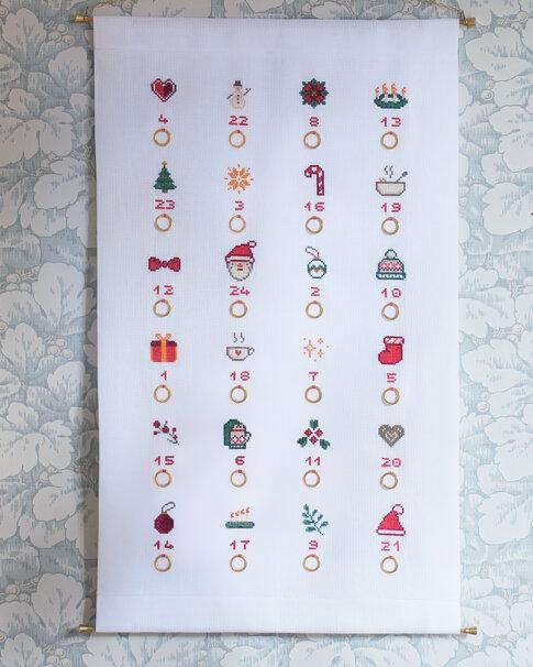Julkalender (Digitalt broderimönster)