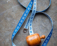 Blue wooden dressmaker's tape from Sajou