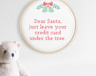 Cross stitch kit Christmas - Dear Santa