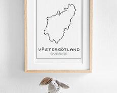 Cross stitch kit aida – Västergötland