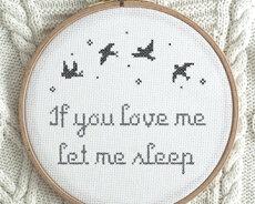 If you love me, let me sleep