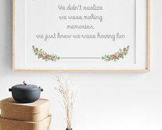 Making memories / Monica Z - Broderikit aida