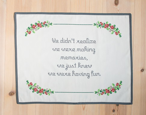 Making memories / Monica Z - Cross stitch kit with aida
