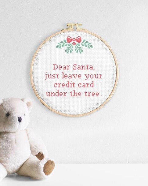 Dear Santa (Digitalt broderimönster)