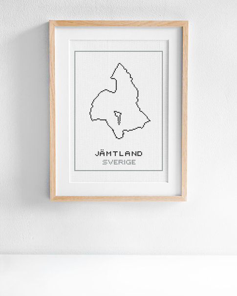 Cross stitch kit aida – Jämtland