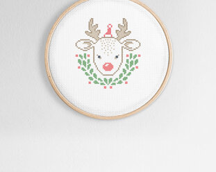 Cross stitch kit Christmas - Little reindeer