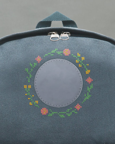 Cross stitch kit for backpack Summer Meadow