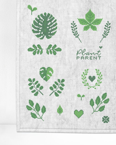 """Patch kit """"Plants"""" for upcycling (18 in 1)"""