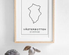 Broderikit aida – Västerbotten