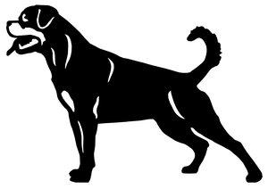 Grupp 2 - FCI nr. 147 / Rottweiler (Siluett)