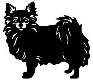 Grupp 9 - FCI nr. 218 / Chihuahua Långhårig (Siluett)