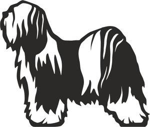 Grupp 9 - FCI nr. 209 / Tibetansk Terrier (Dekal)