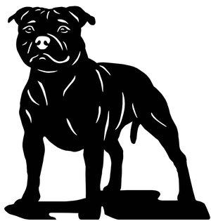 Grupp 3 - FCI nr. 76 / Staffordshire Bullterrier (Dekal)