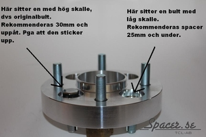 Bolt-on Spacers-X 4-bult D163 Max 4/130
