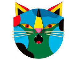 Väggdekor katt 'Ivan`