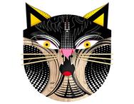 Väggdekor katt 'Histerical`