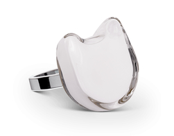 Ring, Katt medium - vit