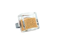 Ring, Carre mini - guld