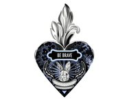 Väggdekor hjärta 'Be brave'