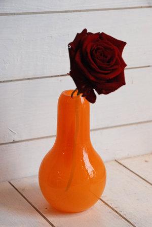 Minivas Flow Orange med prickar