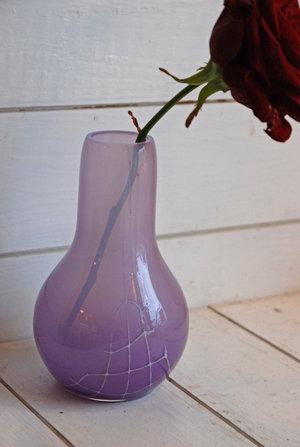 Minivas Flow Lila med mönster