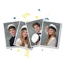 Studentfotografering 4 bilder