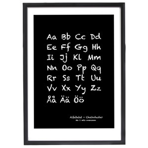 Poster - Alfabet Chalkduster