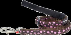 Justerbart koppel Dots Brun-rosa