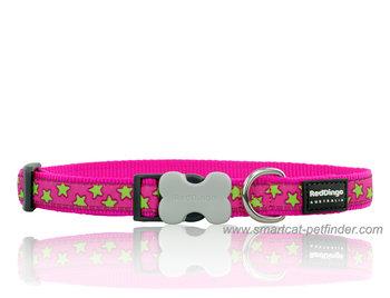Stars Dog Collar Hot Pink